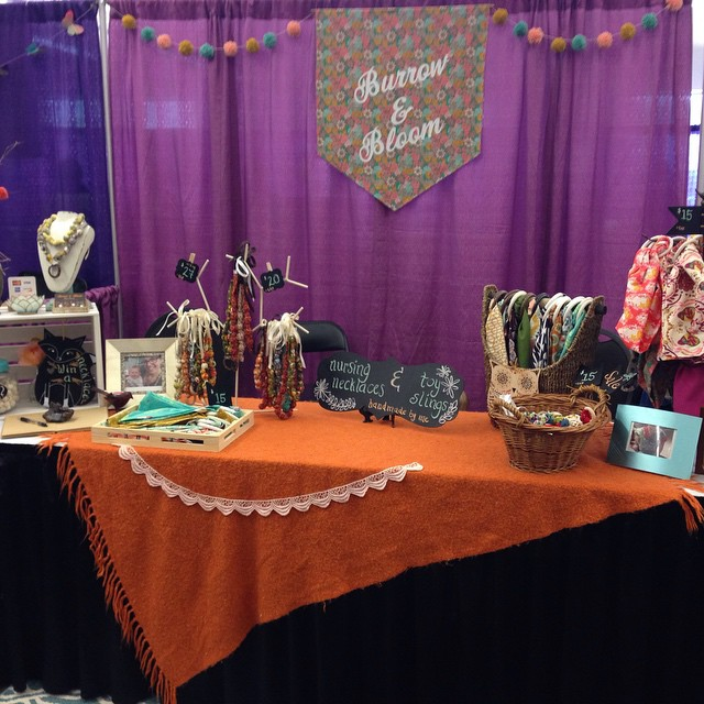 My booth at The Baby Fair!